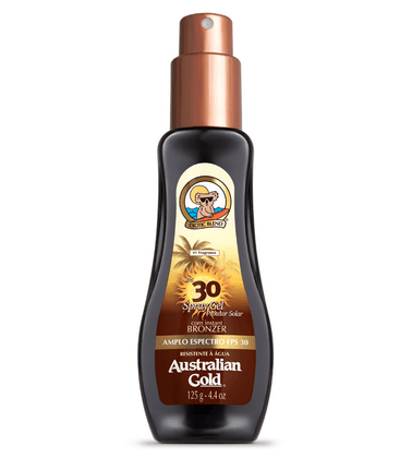 Bronzeador Australian Gold Instant Bronzer Spray Gel FPS 30 125ml