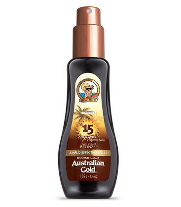 Bronzeador Australian Gold Instant Bronzer Spray Gel FPS 15 125ml