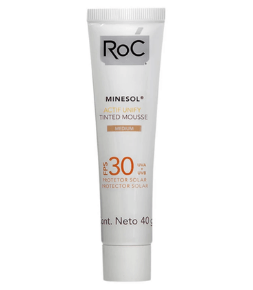 Roc Minesol Actif Unify Tinted Mousse Protetor Solar FPS 30 40g - 02 Medium