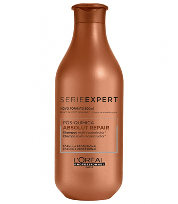 Shampoo Loreal Profissional Absolut Repair Pos Quimica 300ml