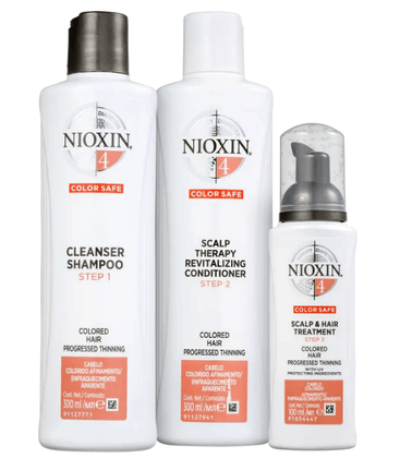 Kit Nioxin System 4 Shampoo 300ml + Condionador 300ml + Leave-in 100ml