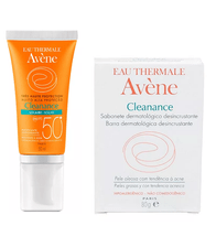 Avene-Kit-Cleanance-Protetor-Solar-FPS-50-50ml---Sabonete-Barra-80g