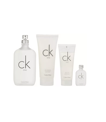 Calvin-Klein-Kit-Ck-One-EDT-Perfume-Unissex-100ml---15ml---Hidratante-200ml---Gel-de-Banho-200ml