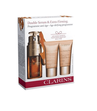 Kit-Clarins-Double-Serum-Facial-30ml---Extra-Firming-Jour-FPS-15-50ml---Extra-Firming-Nuit-50ml